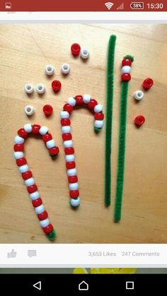 Bead candy cain