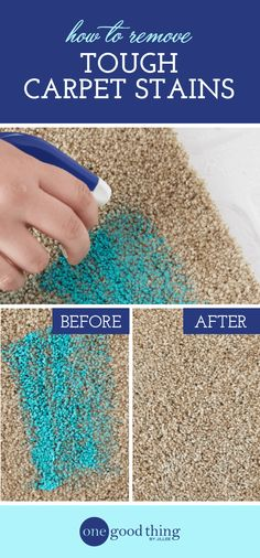 Learn how to use your clothes iron to help remove tough carpet stains. You won't want to miss these impressive before-and-after photos!