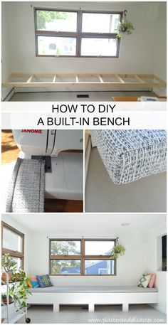 DIY bench seating -- Plaster & Disaster