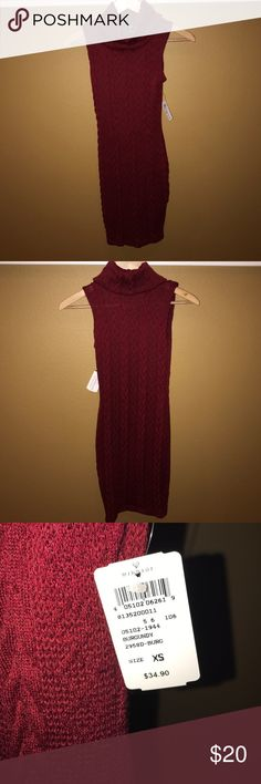 Windsor Fashions Turtleneck Sweater Dress in XS Sweater Turtleneck dress in XS in a beautiful deep red. Never been worn with tags. Windsor Dresses Midi
