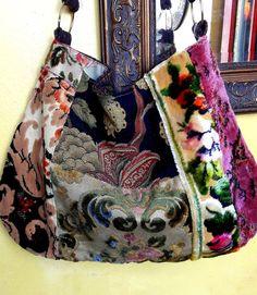 Pretty Mix Velvets Boho Bag by Justbepurses on Etsy