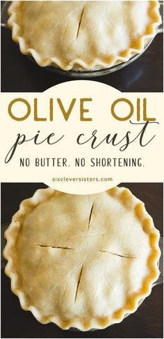 Olive oil pie crust recipe that is do delicious and easy to make! Pie crust recipe without shortening and without butter. It's an easy pie crust recipe that is healthier and uses olive oil. Olive Oil Pie Crust Recipe, Quiche Crust Recipe, Vegan Pie Crust, Pie Crust Recipes, Pie Crust Recipe No Butter, Pie Crust With Oil, Simple Pie Crust, Pie Crust Recipe Easy No Shortening, Oil Recipe