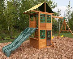Big Backyard Premium Collection Brooksville Wood Swing Set 4a509101 Outdoor Toys