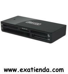 Ya disponible Lector Sweex ext. negro   (por sólo 14.99 € IVA incluído):   - Protocolos soportados xD Picture Card v1.2 Secure Digital v2.0 with SDHC MultiMediaCard v4.2 with 4 bit data bus CompactFlash v4.0 with Ultra DMA Memory Stick v1.43 Memory Stick PRO v1.02  - Medios de almacenaje Soporte CompactFlash (CF) Soporte de memory Stick (MS) MultiMediaCard (MMC) support Secure Digital (SD) support Memory Stick Pro (MS Pro) support Soporte de tarjeta de Imagen-xD (xD) Sopo