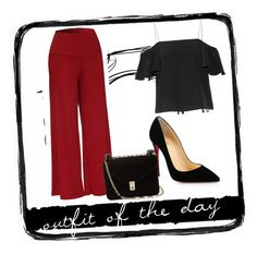 """""""#outfitoftheday"""" by amina-delic321 ❤ liked on Polyvore featuring Fendi, Christian Louboutin, Valentino and Tim Holtz"""
