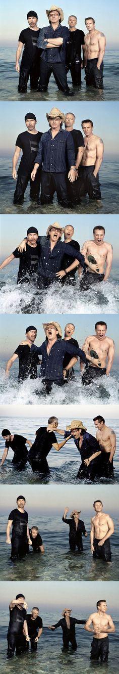 U2 - The world needs more shirtless Larry
