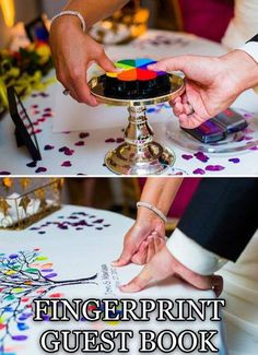 Wow I love this idea!! I hope my guests don't mind ink on their fingers because I'm totally doing this! :D