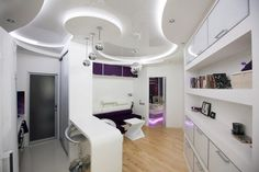 60 Amazing Futuristic Apartment Designs - Have Fun Decor Apartment Interior, Apartment Design, Home Interior Design, Interior Architecture, Spaceship Interior, Futuristic Interior, Home Technology, World Of Interiors, Rustic Interiors
