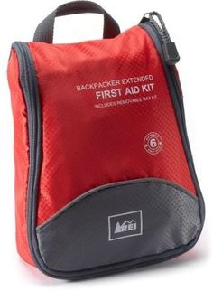 Extended Backpacking First Aid Kit- will probably repack to include items like maxi pads, splint materials, moleskin, vet wrap, banamine paste, sugar/honey packets, CPR pocket mask.
