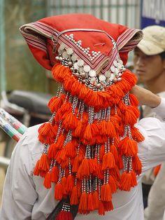 Dzao Headdress, Vietnam