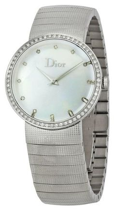 Christian Dior Women's CD042111M002 Baby D Fixed Bezel Set with 52 Diamonds Watch: Watches: Amazon.com