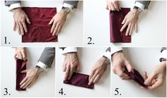 How To Fold a Pocket Square: Pesko Fold - He Spoke Style