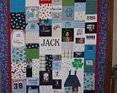 DOWN PAYMENT for Patchwork Style Quilt made from baby clothes and your photos - Any Size