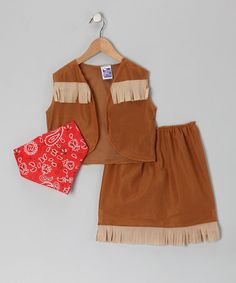 Look what I found on #zulily! Brown Cowgirl Dress-Up Set - Toddler & Kids #zulilyfinds