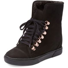 Saint + Libertine Nordic Wedge Hi Top ($119) ❤ liked on Polyvore featuring shoes, sneakers, black, hi top wedge sneakers, black platform shoes, wedges shoes, black hi top sneakers and black wedge sneakers