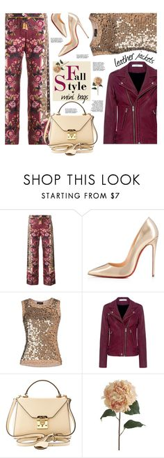 """Love you @blondemommy You are not alone"" by sara-cdth ❤ liked on Polyvore featuring F.R.S For Restless Sleepers, Christian Louboutin, IRO, Mark Cross and Pier 1 Imports"