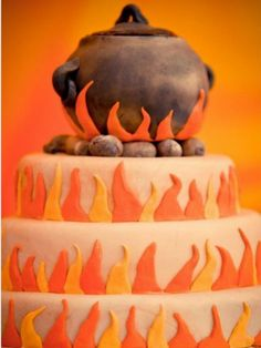 10 African Inspired Wedding Cakes - KnotsVilla