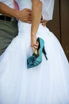 Something blue... wedding shoes :)