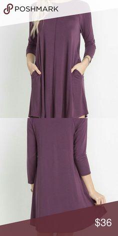 Bamboo Raglan Pocket Dress Description: Bamboo Fabric Raglan Pocket Dress | Fabric: 96% Bamboo Viscose 4% Spandex | Made in: USA Dresses