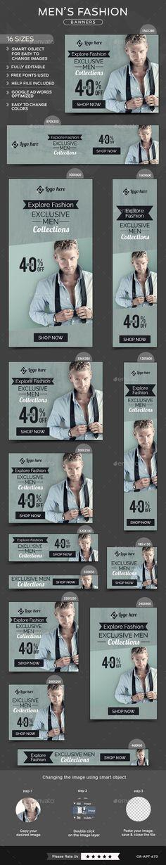 Men Fashion Banners Template #design Download: http://graphicriver.net/item/men-fashion-banners/11738727?ref=ksioks