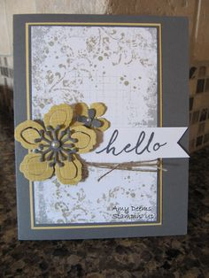 Amy Deems - Timeless Textures and Botanical Builder Framelit Dies, Stampin' Up!
