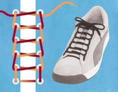 15 Cool Ways To Tie Shoelaces - Schuhe Basket Sport, Diy Fashion, Ideias Fashion, Mens Fashion, Tie Shoes, Your Shoes, Ways To Tie Shoelaces, Ways To Lace Shoes, Baskets