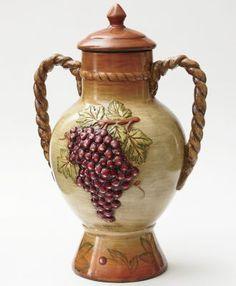 Grape Decorative Urn..great for kitchen decoration