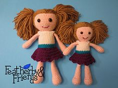 Ravelry: Featherby & Friends Little Sister Big Sister Dolls
