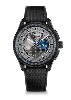 Official Zenith website - El Primero Lightweight - Aluminum and carbon titanium watch, skeleton dial and Nomex-coated black rubber strap. The lightest chronograph caliber on the market.