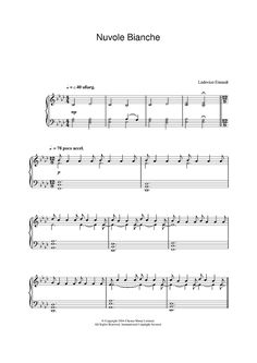 Nuvole Bianche Sheet Music Preview Page 1