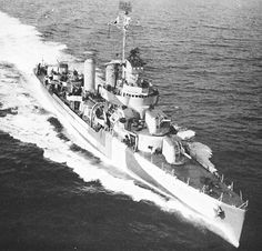 USS Niblack fired depth charges at a German U-boat on 10 April 1941. This was the first hostile action between American and German forces prior to the Second World War