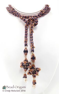 Comet Trails Lariat - Cindy Holsclaw - Bead Origami