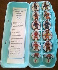 The 12 Disiples of Jesus- This is SO CUTE! She shares all the links to the free printables to make this happen. :-)