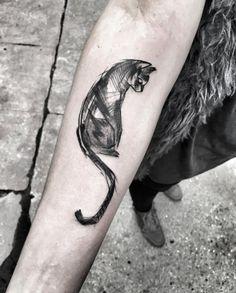 Sketch style cat by Inez Janiak