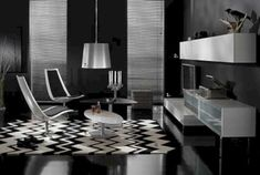 Black And White Living Room Decor With Minimalist Design 11