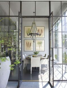 greige: interior design ideas and inspiration for the transitional home : Grey and light. Loving the steel windows and doors! Steel Doors And Windows, Veranda Magazine, New Orleans Homes, Transitional House, Deco Design, Design Design, Graphic Design, My New Room, Home Interior