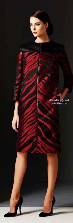 Pamella Roland Pre Fall 2014 Red Zebra