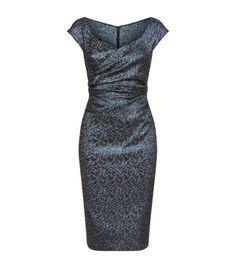 Talbot Runhof Marble Jacquard Dress | Harrods