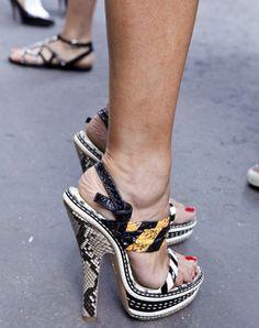 fashionwanderlust:    MFW Street Style: Shoes outside Jil Sander SS12