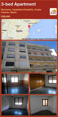3-bed Apartment in Burriana, Castellón/Castelló, Costa Azahar, Spain ►€28,050 #PropertyForSaleInSpain