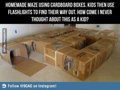 Maze for Kids- perfect for when we are moving into a new house!