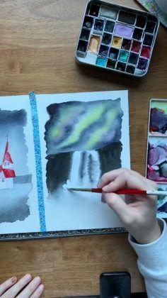 Title Mit Bildern Aquarell Wasserfarben Illustration