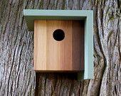 Birdhouse modern minimalist The Cedar Plank by twigandtimber