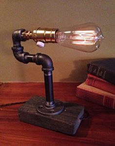 Dimmer knob Edison Light Metal Desk Lamp by UrbanIndustrialCraft, $60.00