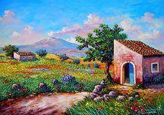 Professione Donna: Schema per il punto croce: Paesaggio_12