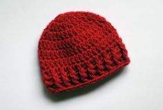Hey, I found this really awesome Etsy listing at https://www.etsy.com/listing/180340877/red-baby-crochet-hat