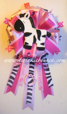 Image detail for -baby shower :: safari jungle zebra baby shower corsage picture by ...