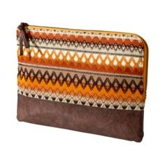 Mossimo Supply Co. Orange Oversized Pouch in Ethnic Knit
