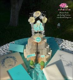 ScarletCalliope Wedding Hop, Wedding Cake Topper by Christine Barker