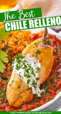 If you like Mexican food you'll love this Chile Relleno recipe. We've got the secrets to a super flavorful authentic chile relleno! Easy Chile Relleno Recipe, Authentic Chile Relleno Recipe, Chilles Rellenos Recipe, Mexican Breakfast Recipes, Mexican Food Recipes, Mexican Food Appetizers, Healthy Eating Recipes, Vegetarian Recipes, Cinco De Mayo